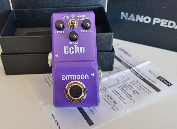 Nano Delay Pedal Echo Ammon Melhor Custo Beneficio Pequeno