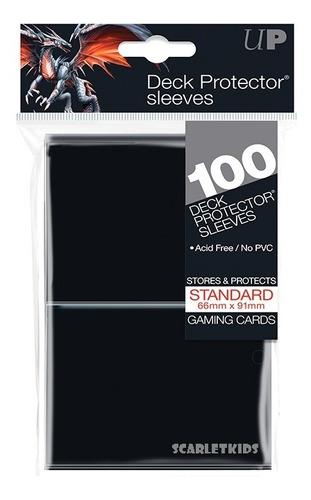 Imagen 1 de 6 de Protectores Ultra Pro X100 Unidades Negro Scarletkids