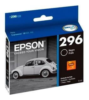 Cartucho Epson T296 Negro Original 296 Xp231 Xp431 T2961202