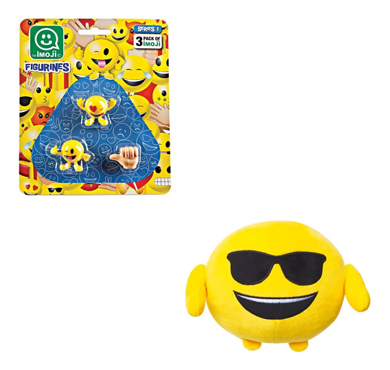 Kit Emoji Pelúcia Br553 + Figurinhas Emojis Sortidos Br512