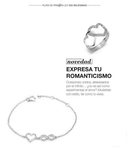 Pulsera Anillo Corazon Infinito Plata 56375-5 P112 Valentin