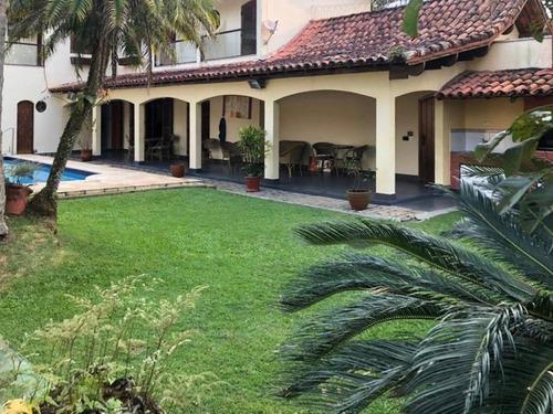 Casa Com 6 Dormitórios À Venda, 450 M² Por R$ 1.600.000,00 - Jardim Virginia - Guarujá/sp - Ca3331