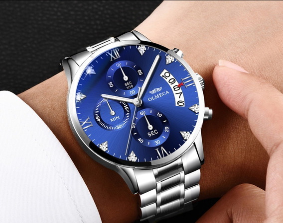 Relógio De Pulso Importado Olmeca Masculino Anti-risco Luxo