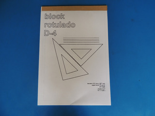 Block De Dibujo Rotulado Din A-4 20 Hjs B/blanco X 2 Blocks