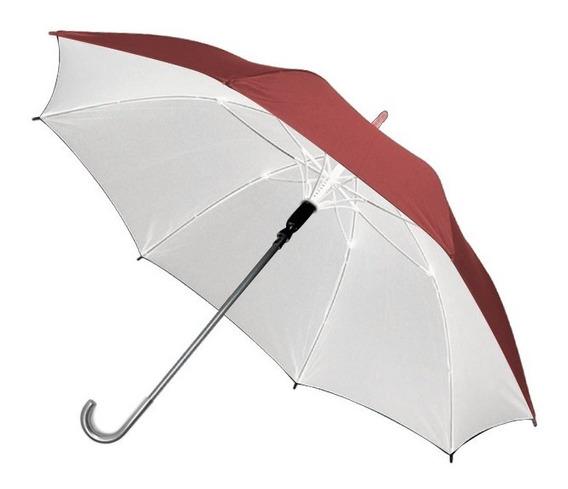 Paraguas Automatico Liso C/detalles Plateados Cuotas