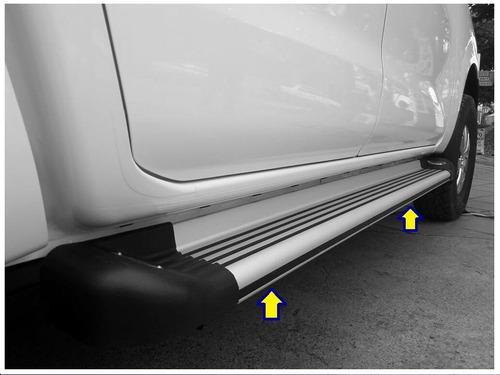 Estribos De Aluminio Con Luz Mazda Bt-50 Todos Los Modelos