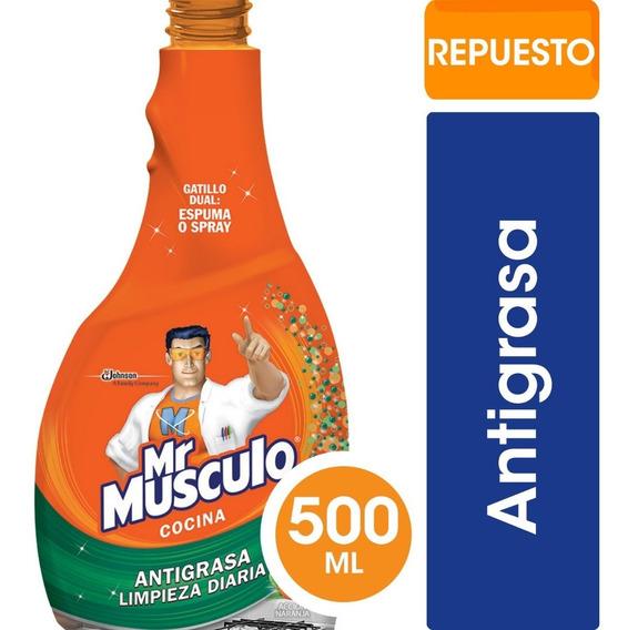 Mr Músculo Cocina Advanced Repuesto X500 Cc - 3 Unidades