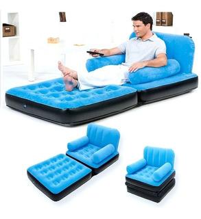 Sillón Sofa Cama Sencillo Inflable Multi Max Bestway Softtop