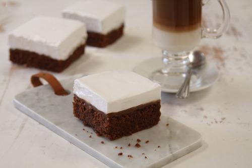 Brownie Con Dulce De Leche Y Merengue X 4 Unidades