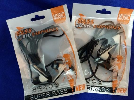 2 Unidades, Fone De Ouvido Bass Stereo Earphone