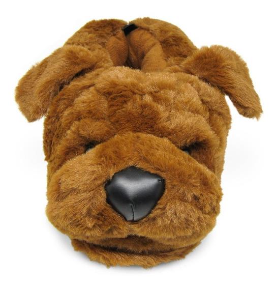 Pantufa 3d Cachorro Dog Sharpei - Solado Borracha - Original