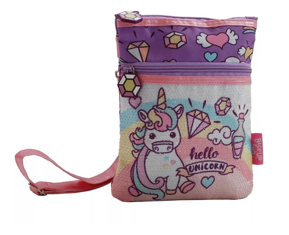 Cartera /bandolera Unicorns Unicornio Con Lentejuelas 50524