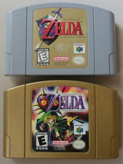 Zelda Ocarina Of Time N64 + Zelda Majoras Mask N64 Originais