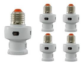 5 Unid Soquete Fotocélula Automático E27 Microcontrolado