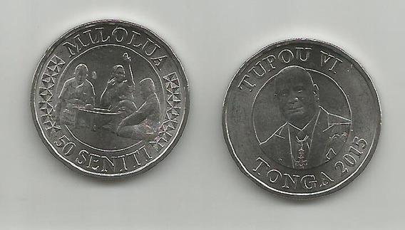 Moneda Tonga 50 Seniti. 2015 S/c