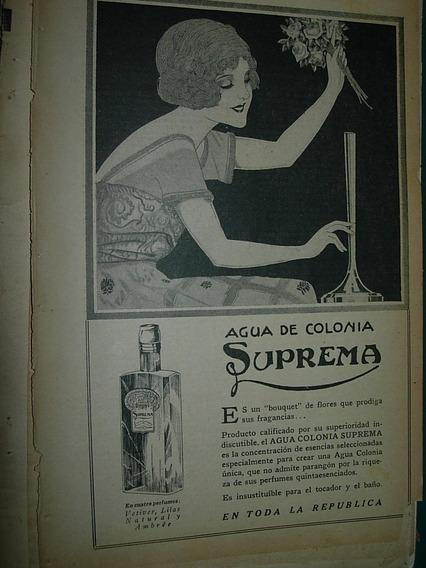 Publicidad Antigua Clipping Agua De Colonia Suprema Botella