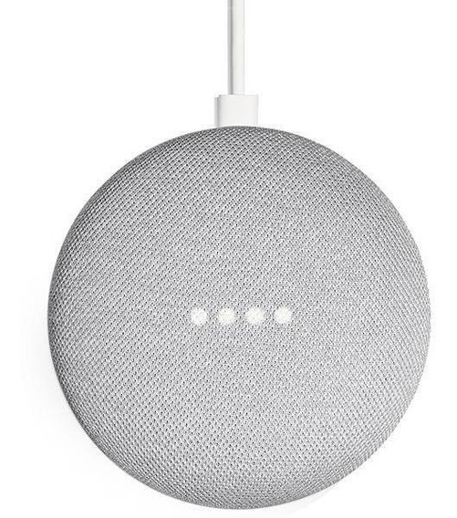 Speaker Google Home Mini Chalk Ga00210-us Com Wi-fi E Blueto