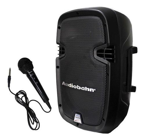 Bocina Audiobahn ACS-8ABFM portátil con bluetooth negra 100V/240V