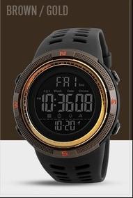 Novo Relógio Skmei Fundo Luz Negra Digital
