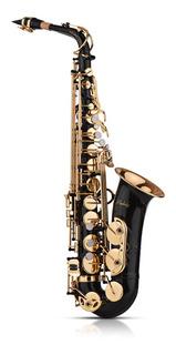 Saxofón Muslady Eb Alto De Latón Oro 82z