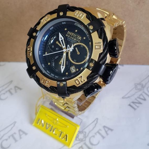 Relógio Invicta Thunderbolt 21361 Original Dourado Preto