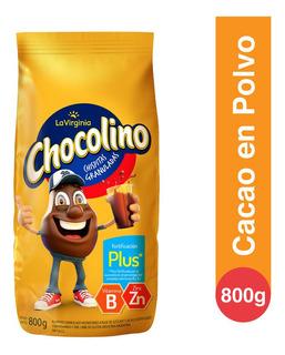 Chocolino Cacao En Polvo Fortificacion Plus La Virginia 800g