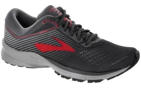 Tenis Brooks Launch 5 Gris Rojo Correr Neutro Supinador