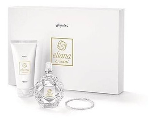 Kit Eliana Cristal: Miniatura + Hidratante + Pulseira