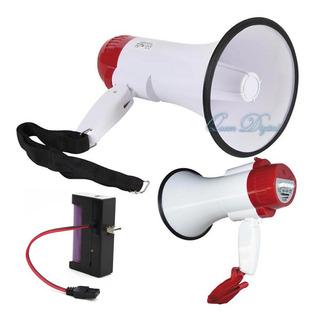 Megafono Amplificador Con Volumen Batería Recargable Y Mic