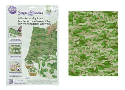 Papel Comestible Diseño Camuflaje Militar Pack*2