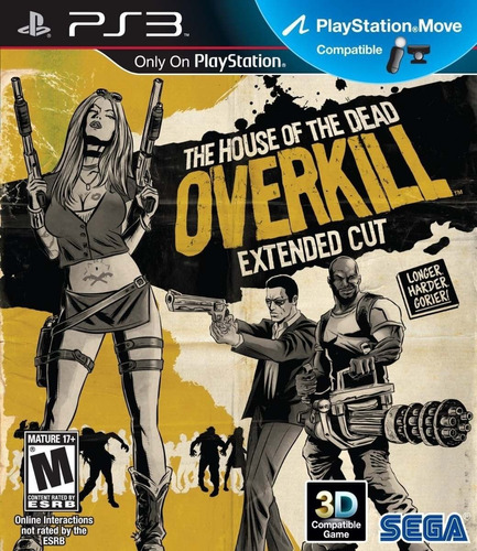 House Of The Dead Overkill Extended Juego Ps3 Original