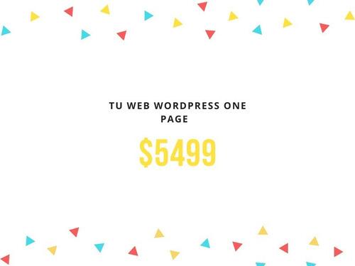 Diseño Pagina Web Wordpress