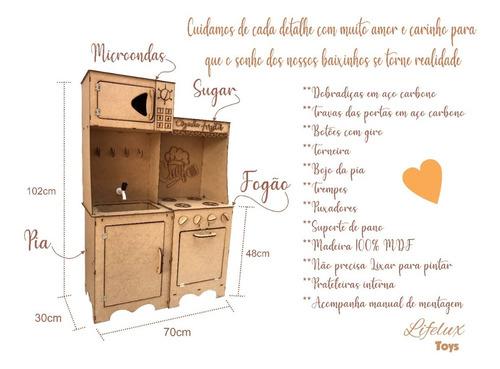 Cozinha Infantil Completa Modulada Menina Desmontado Mercado Livre