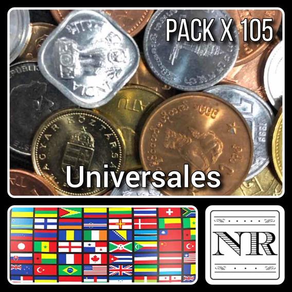 Lote 105 Monedas Paises Exoticos - Africa - Asia - Oceania