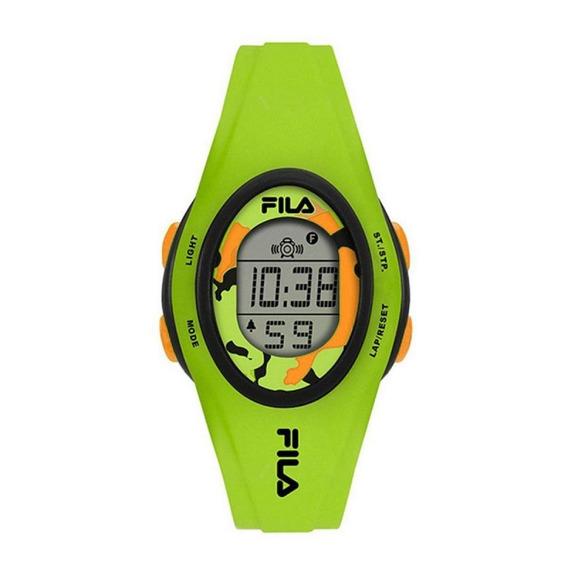 Relógio Feminino Fila Digital Verde Com Desconto