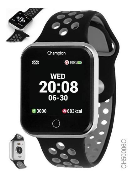Smartwatch Champion Preto Com Prata