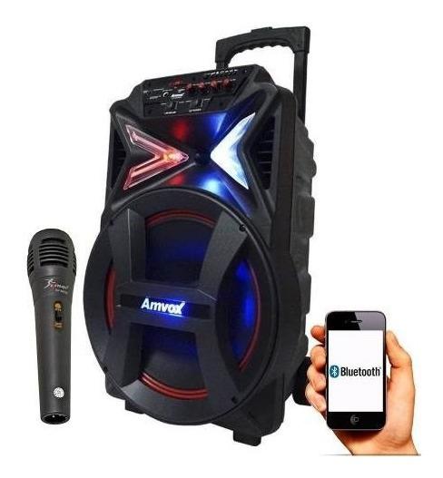 Caixa De Som Amplificada Bluetooth 2900w Aca292 Amvox C/micr