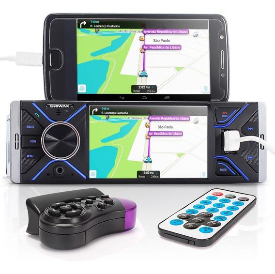 Central Multimídia Universal 1din Usb Bluetooth Espelhamento