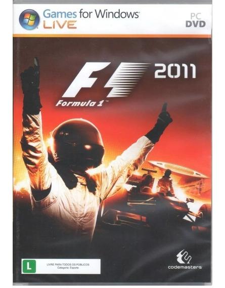 Formula 1 F1 2011 Pc Original Mídia Física,sem Uso!!!