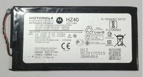 Bateria Moto Z2 Play 100% Original