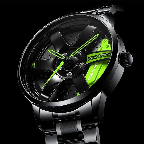 Reloj Pulsera Deportivo Impermeable Diseño Rin De Neumático