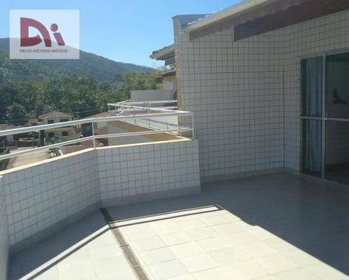 Imagem 1 de 6 de Cobertura Com 2 Dormitórios À Venda, 98 M² Por R$ 395.000 - Toninhas - Ubatuba/sp - Co0003