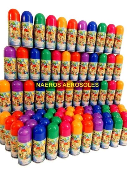 Serpentinas En Aerosol X100 Colores Cotillón No Inflamable