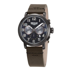 Relógio Seculus Masculino Ref: 13029gpsvsc3 Cronógrafo Black