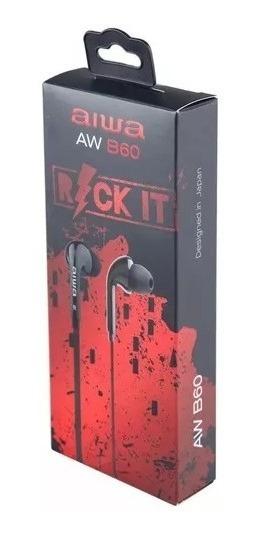 Fone De Ouvido Aiwa Rock It Aw B60 Preto - Lacrado Original