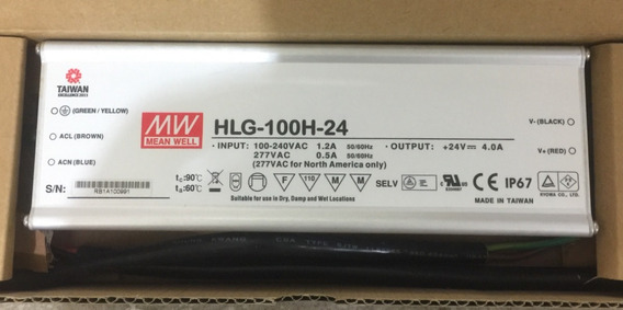 Fonte Driver P/ Led - 100w Hlg-100h-24 - Mean Well***