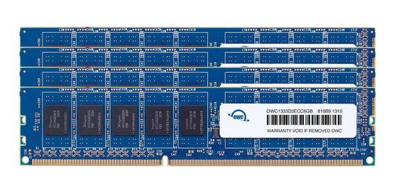 Memoria Ram 8gb Owc 32.0gb (4x ) Ddr3 Ecc-r Pc10600 1333mhz Sdram Ecc Para Mac Pro