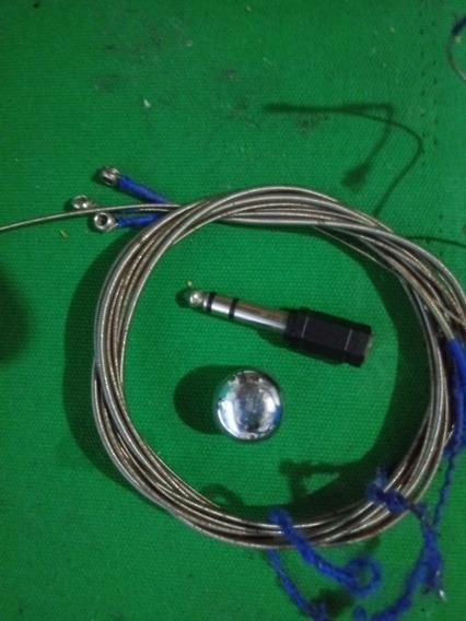 Cordas De Contra Baixo + Plug Adaptador Ps Estéreo