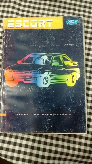 Manual Proprietario Escort Antigo Racer Glx E Outros