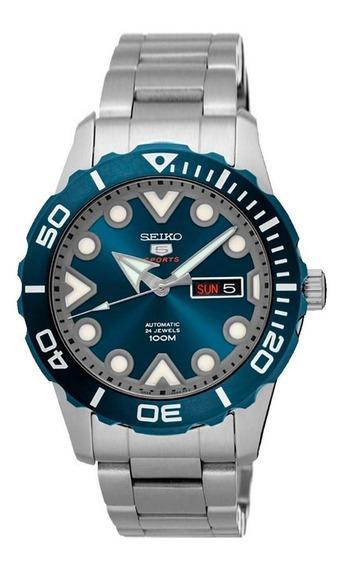 Relógio Seiko 5 Sports Automático Visor Azul Srpa09b1